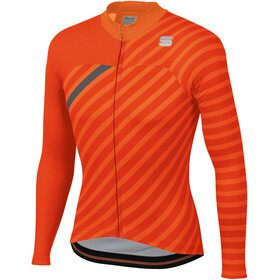 Sportful Bodyfit Team LS Winter Jersey Men orange sdr/fire red/anthracite
